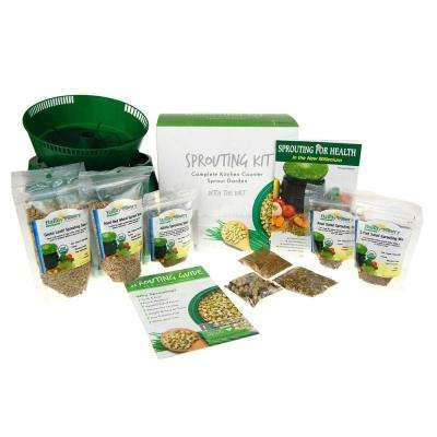 Sprouting Starter Kit with Seeds Everything You Need to Grow Sprouts At Home 3-Tray Sprout Garden, Organic Sprout Seed