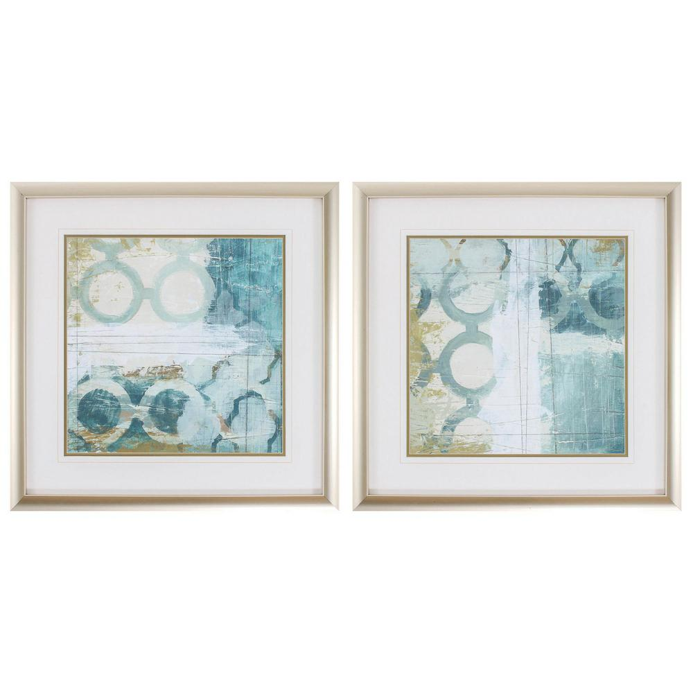 Homeroots Victoria Champagne Gold Color Gallery Frame Set Of 2 365756 The Home Depot