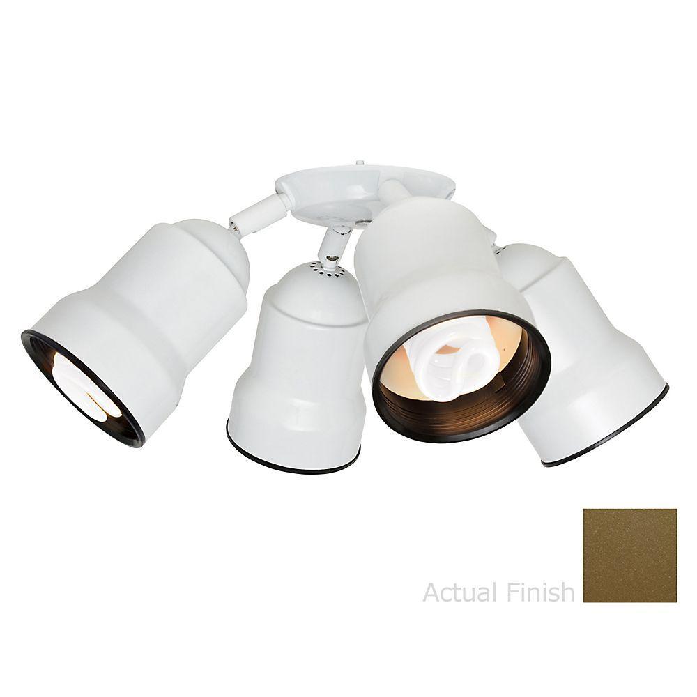 Casablanca 4-Light Oil Rubbed Bronze Integrated Bullet Fixture Light Kit-DISCONTINUED