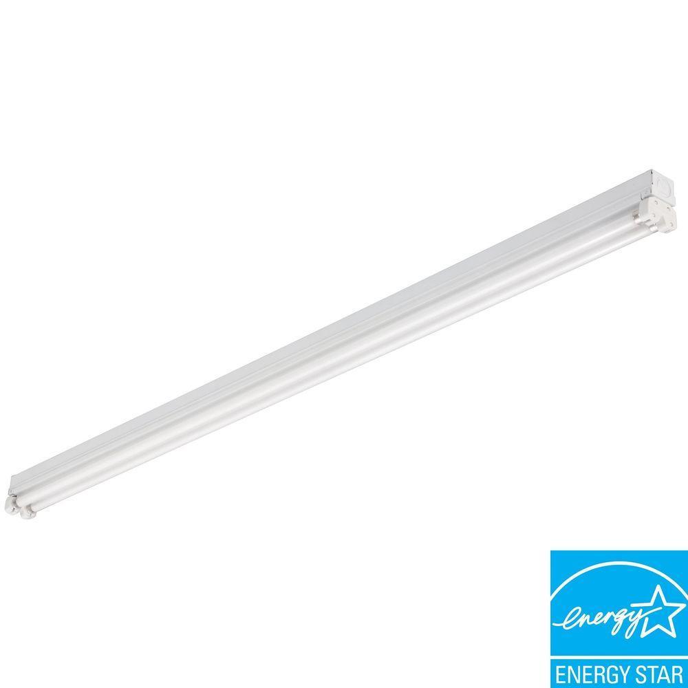 MNS5 2 28 LP Mini Strip 2-Light White Fluorescent Utility Light