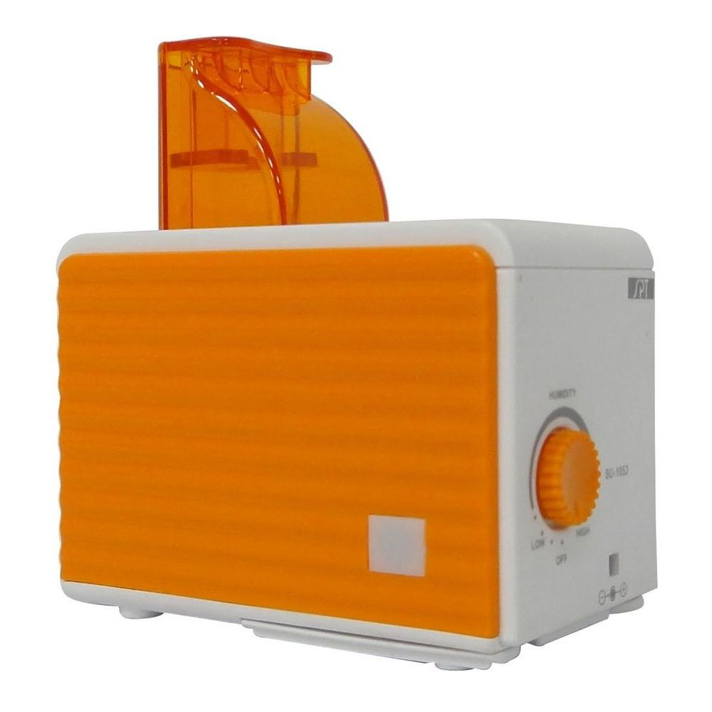 SPT Ultrasounic Cool Mist Personal Humidifier - Orange and White