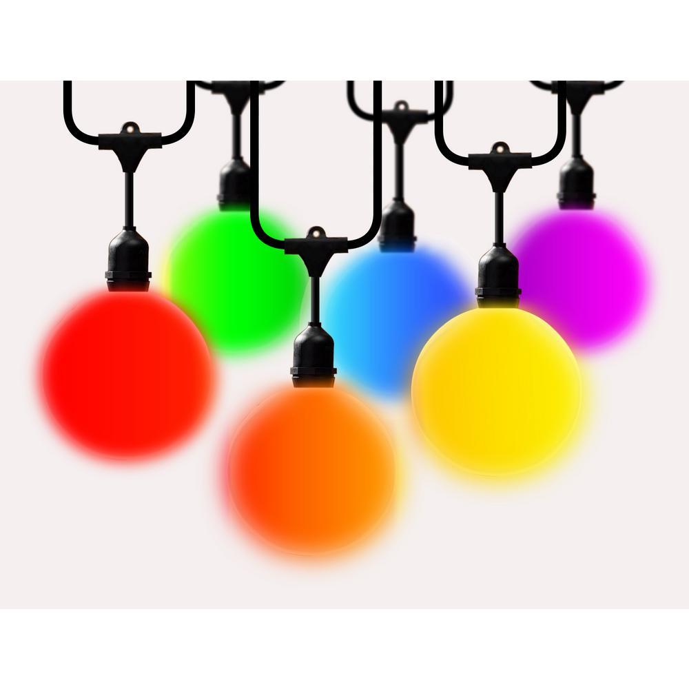 14 ft. G40 LED Globe String Lights Color Changing (2-Pack)