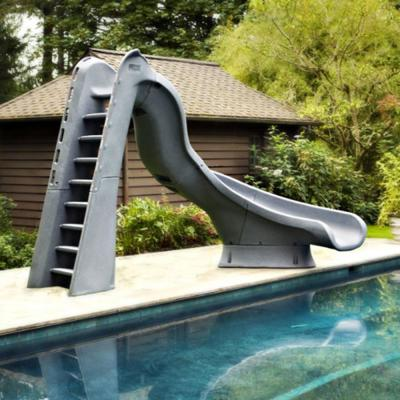 Turbo Twister Gray Right Curve Pool Slide