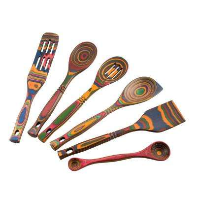 Rainbow Pakka Utensil 6-Piece Set