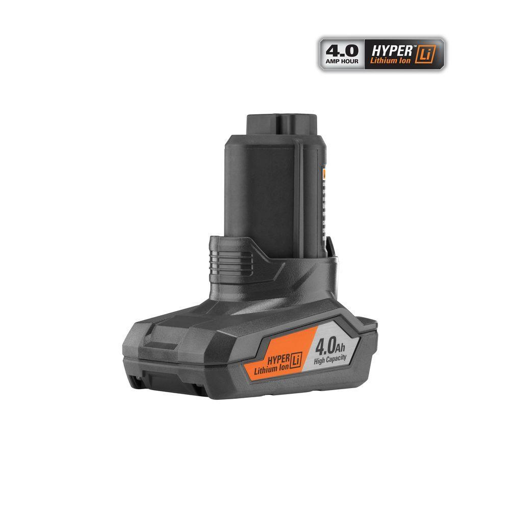 Ridgid 12-Volt Hyper Lithium-Ion Battery Pack 4.0Ah