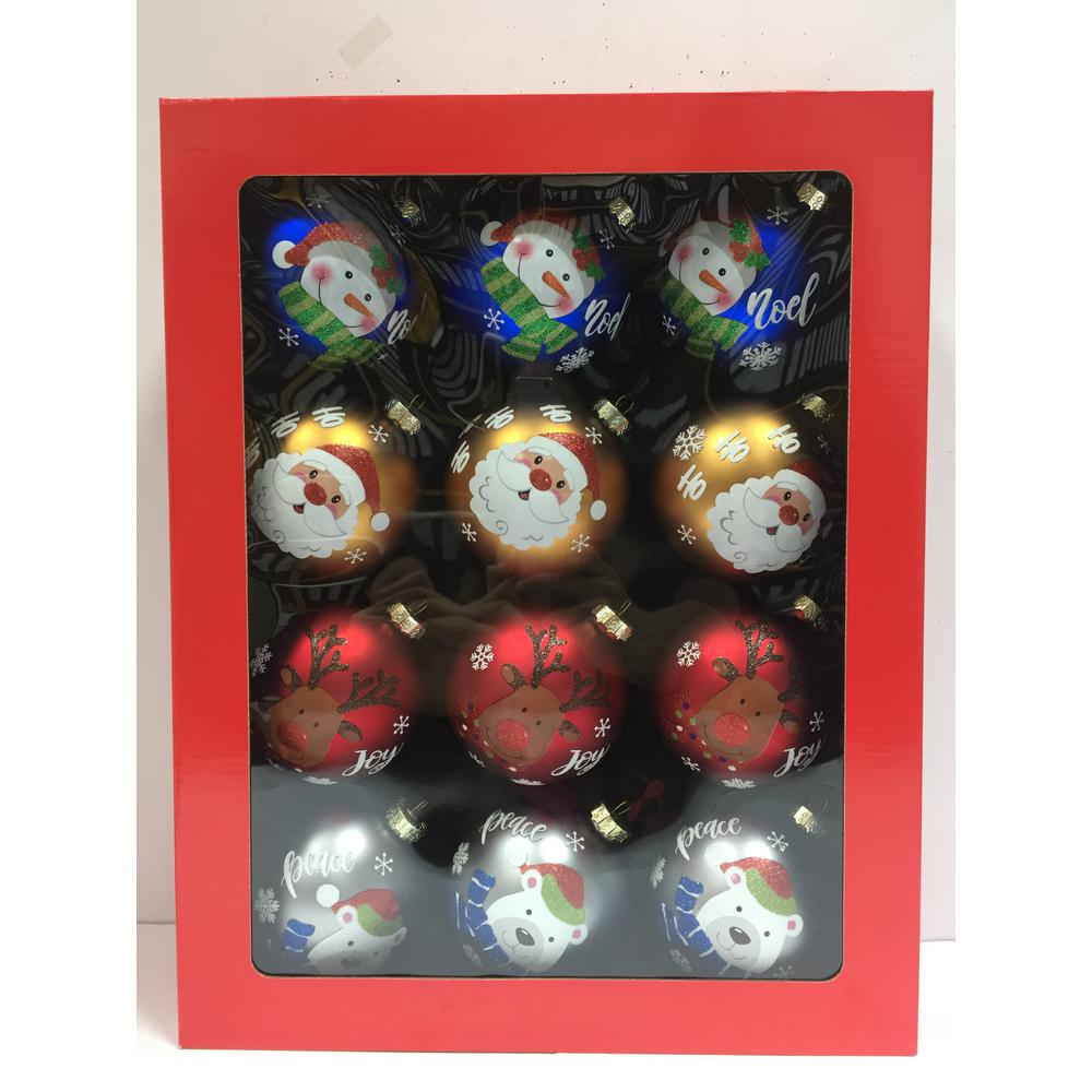 3.9 in. Christmas Glass Tree Trim (15-Pack)