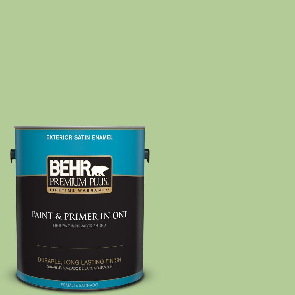 BEHR Premium Plus 1-gal. #430D-4 Garden Spot Satin Enamel Exterior Paint