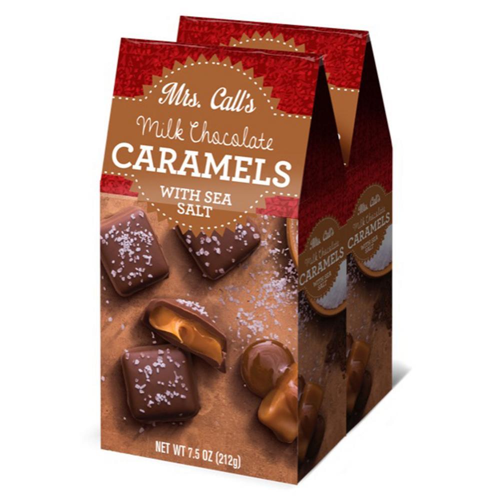 Milk Chocolate Covered Sea Salt Caramels (2-Pack Gable)