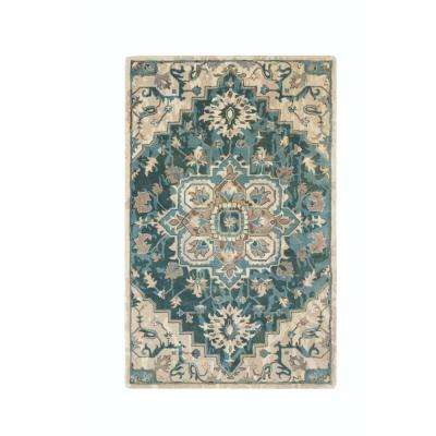 Bordeaux Green 8 ft. x 8 ft. Round Area Rug