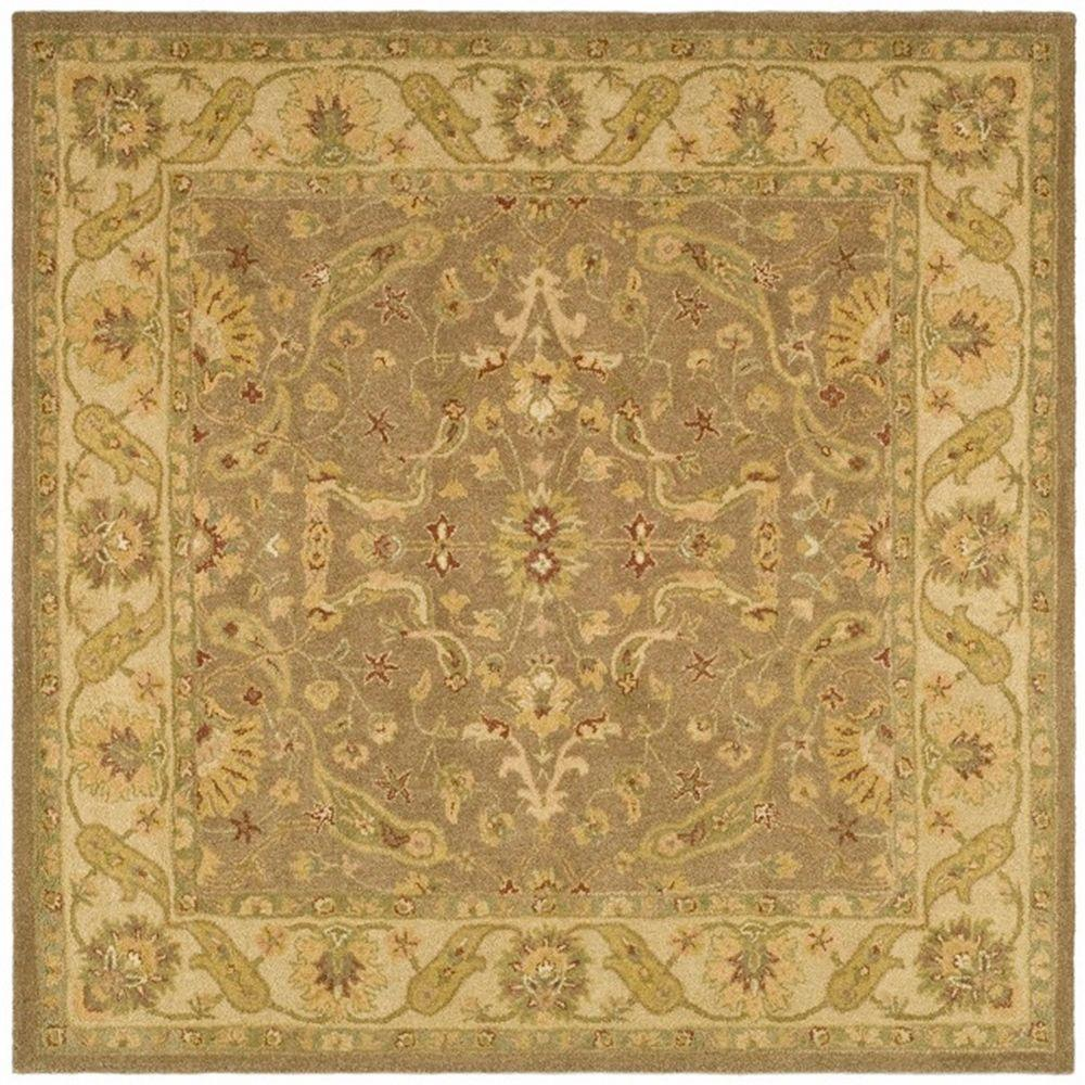 Safavieh Antiquity Brown Gold 8 Ft X 8 Ft Square Area Rug At311a