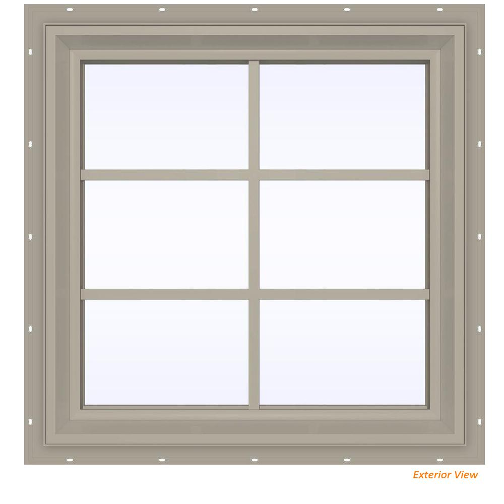 23.5 in. x 35.5 in. V-2500 Series Desert Sand Vinyl Fixed