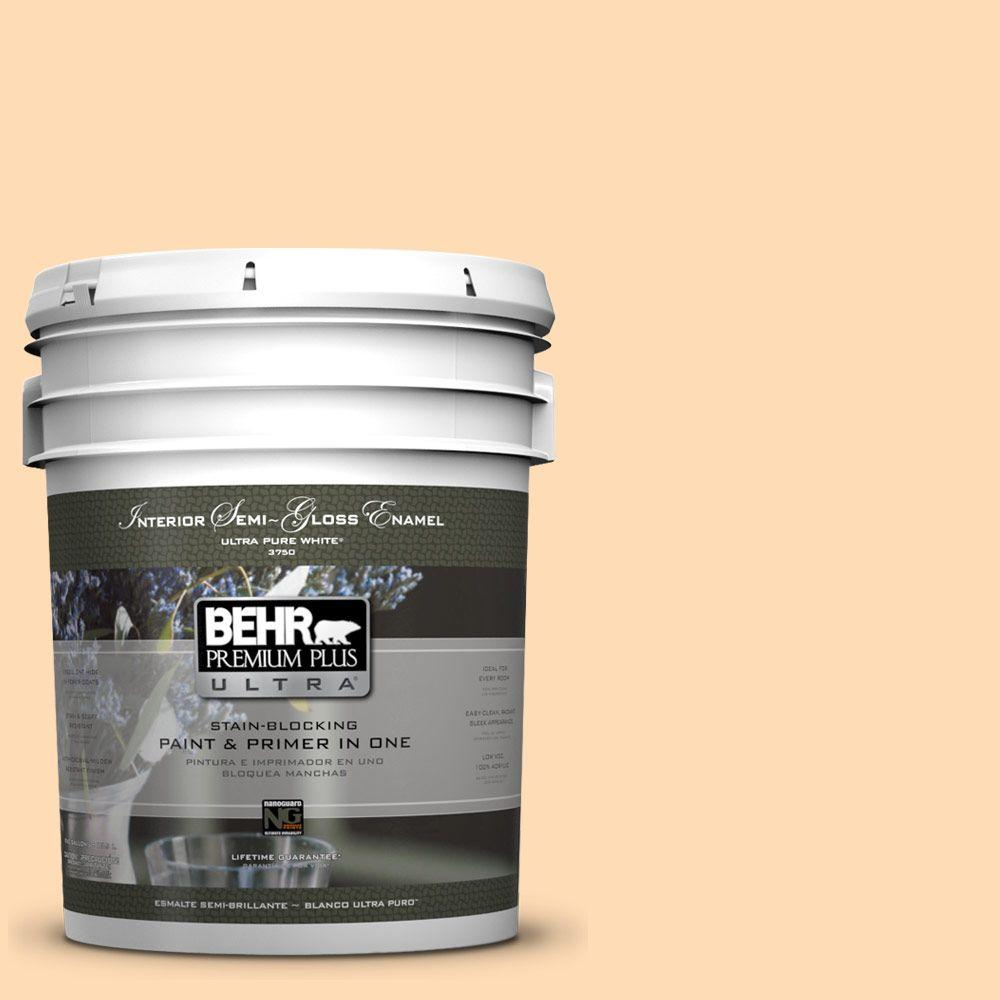 5-gal. #290B-4 Feather Plume Semi-Gloss Enamel Interior Paint