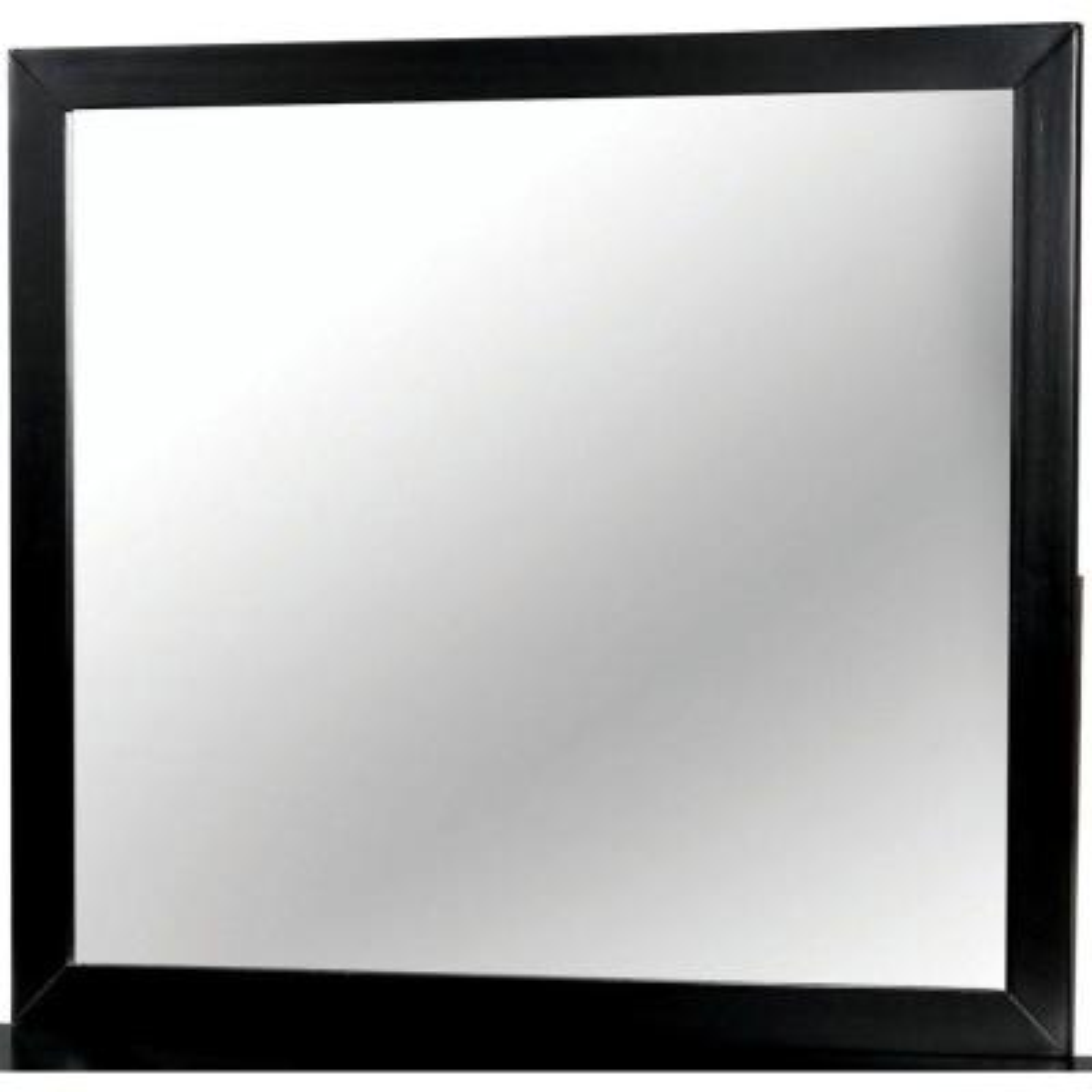 Medium Rectangle Black Modern Mirror (36 in. H x 40 in. W)