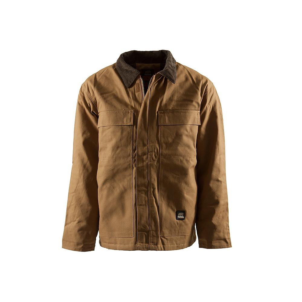 a67e33f0089 Berne Men s 4 XL Regular Brown Duck 100% Cotton Original Chore Coat
