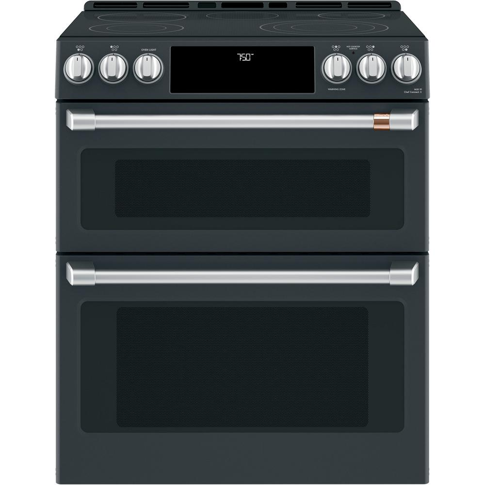 30 in. 7.0 cu. ft. Slide-In Double Oven Electric Range with