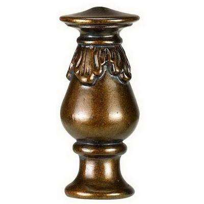 2.75 in. Brown Cap Resin Lamp Finial