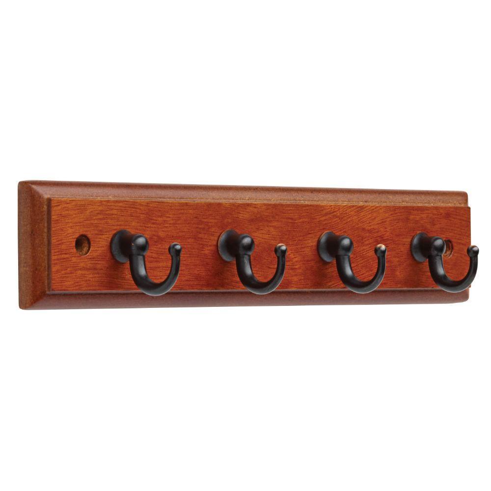 Liberty 9 in. Dark Caramel and Venetian Bronze Key Rack