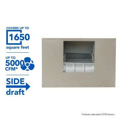 5000 CFM 2-Speed Side-Draft Wall/Roof 12 in. Media Evaporative Cooler for 1650 sq. ft. (Motor Not Included)