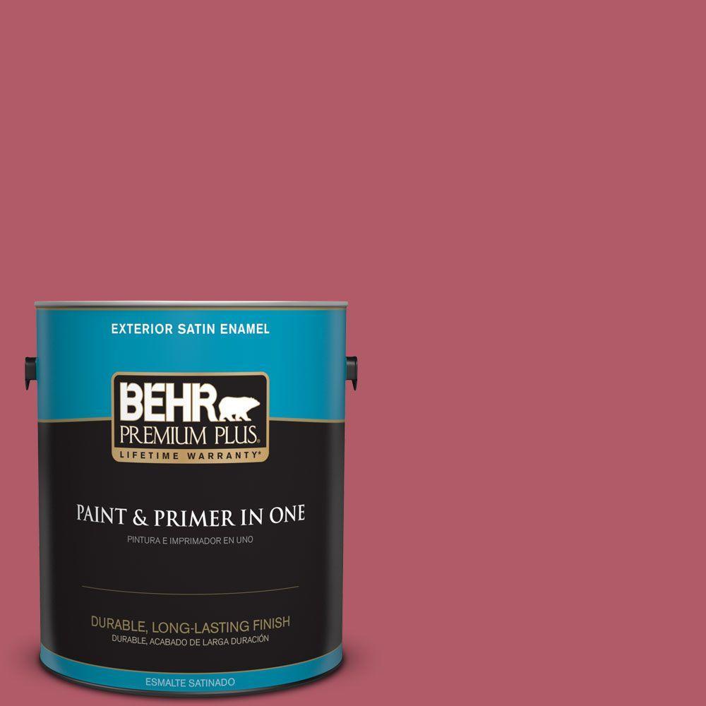 BEHR Premium Plus 1-gal. #130D-5 Rhubarb Satin Enamel Exterior Paint