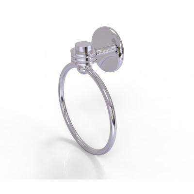 Satellite Orbit One Collection Towel Ring with Dotted Accent in Polished Chrome