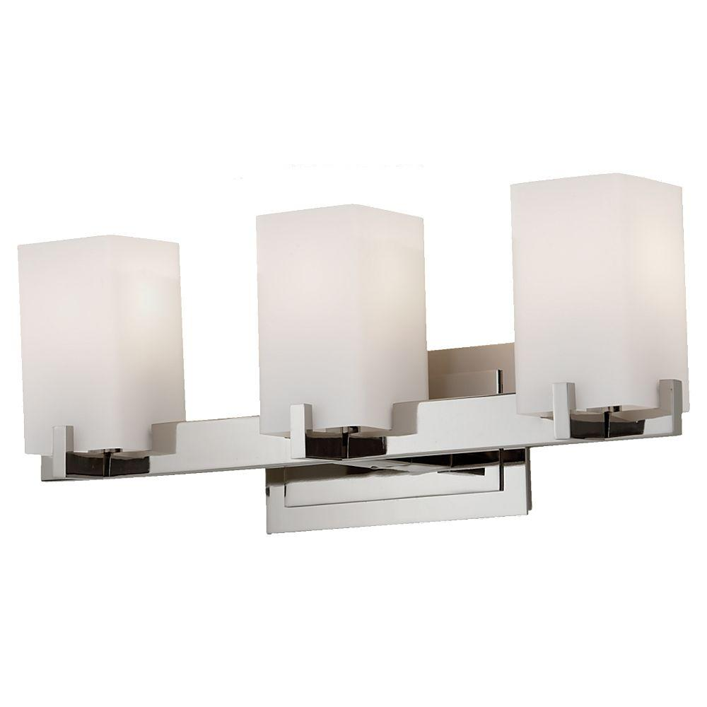 Feiss Riva 3 Light Polished Nickel Vanity Light Vs18403 Pn The Home Depot