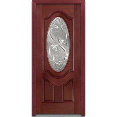 single front doors. 36 in. x 80 lasting impressions left-hand oval lite 2- single front doors