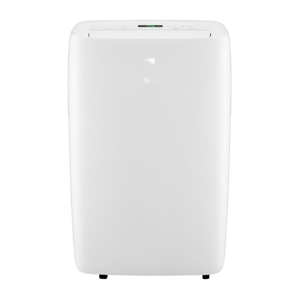 10,000 BTU (6,500 BTU, DOE) 115-Volt Portable Air Conditioner with Dehumidifier Function and LCD Remote in White