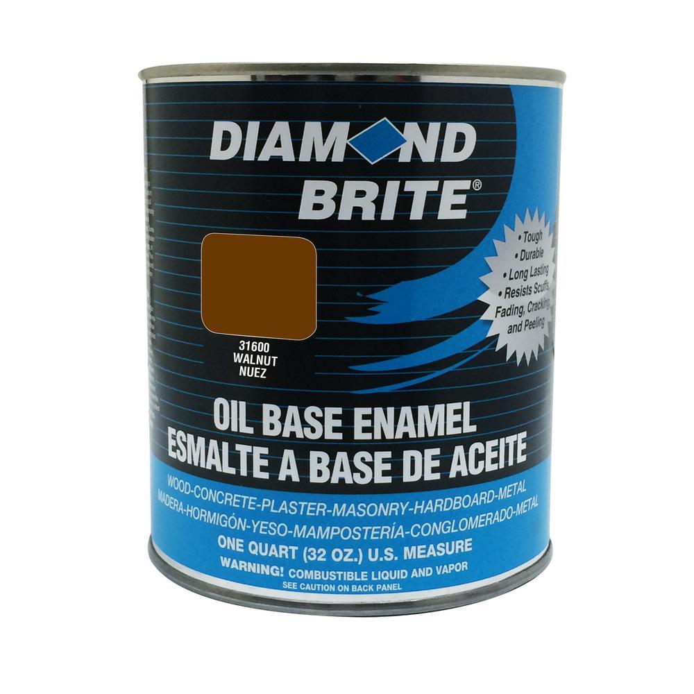 Diamond Brite Paint 1 qt. Walnut Oil Base Enamel Interior/Exterior Paint