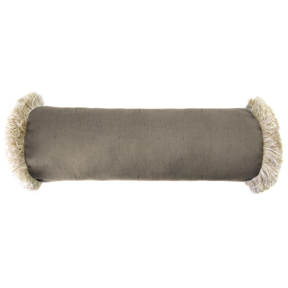 Sunbrella 7 in. x 20 in. Frequency Sand Bolster Outdoor Pillow