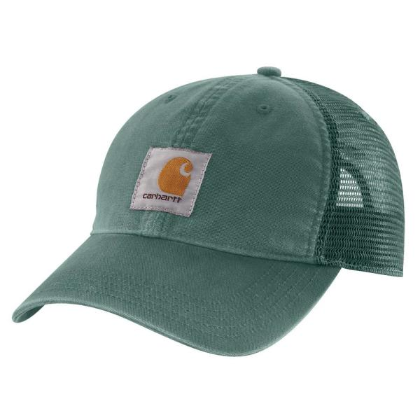 Men's OFA Musk Green Cotton Buffalo Sandstone Meshback Cap