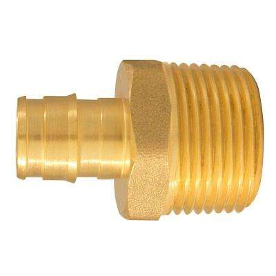 1/2 in. Brass PEX-A Expansion Barb x 3/4 in. MNPT Male Adapter