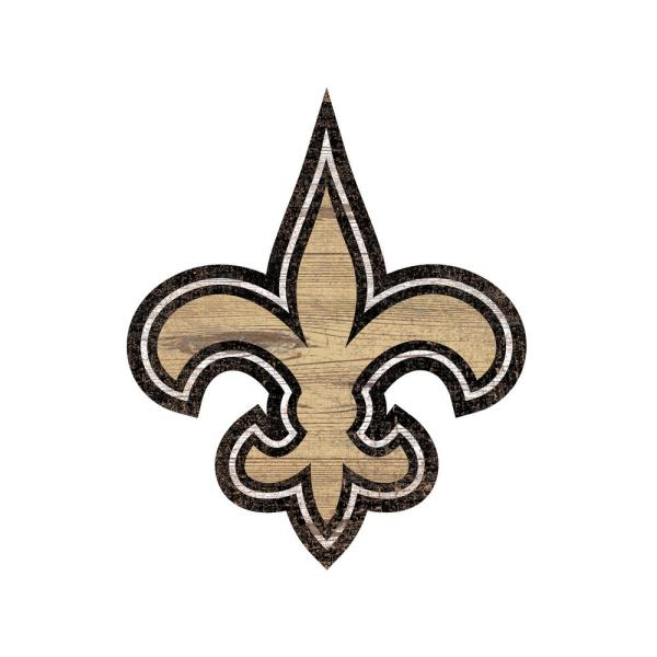 Charmant Adventure Furniture NFL Indoor New Orleans Saints Distressed Logo Cutout  Wood Sign