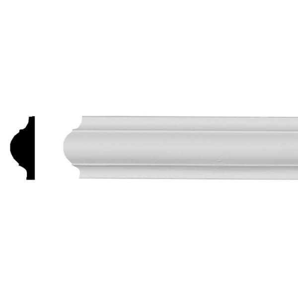 1/2 in. x 1-5/8 in. x 94-1/2 in. Polyurethane Ashford Smooth Panel Moulding