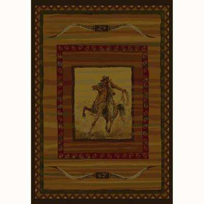 Rawhide Rust 5 ft. x 8 ft. Contemporary Lodge Area Rug