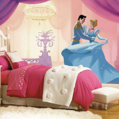 72 in. x 126 in. Disney Princess Cinderella So This Is Love XL Chair Rail 7-Panel Prepasted Mural