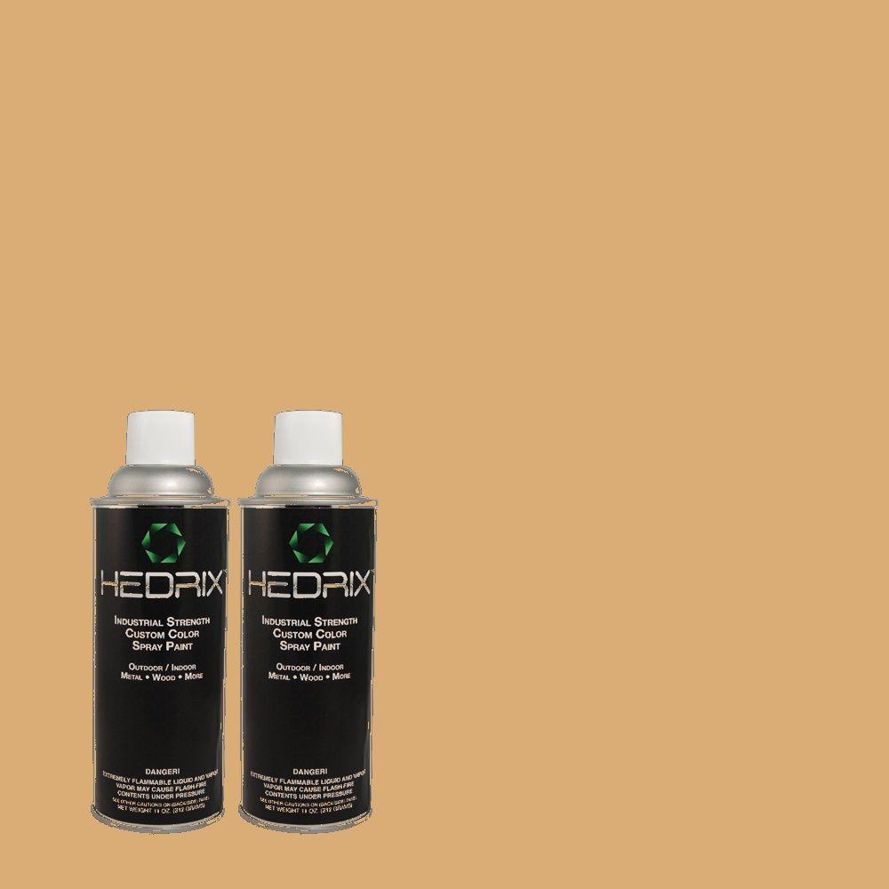 Hedrix 11 oz. Match of 821 Golden Clay Gloss Custom Spray Paint (2-Pack)