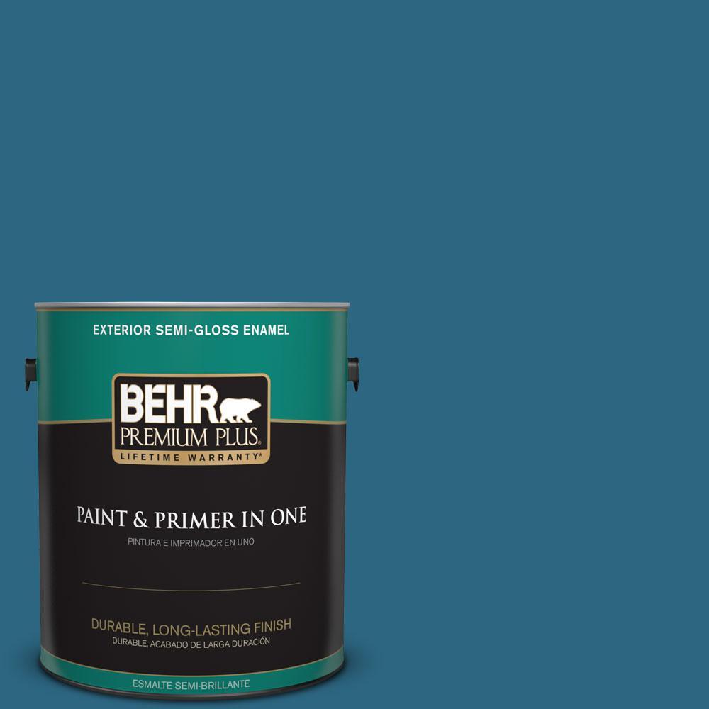 1-gal. #M480-7 Ice Cave Semi-Gloss Enamel Exterior Paint