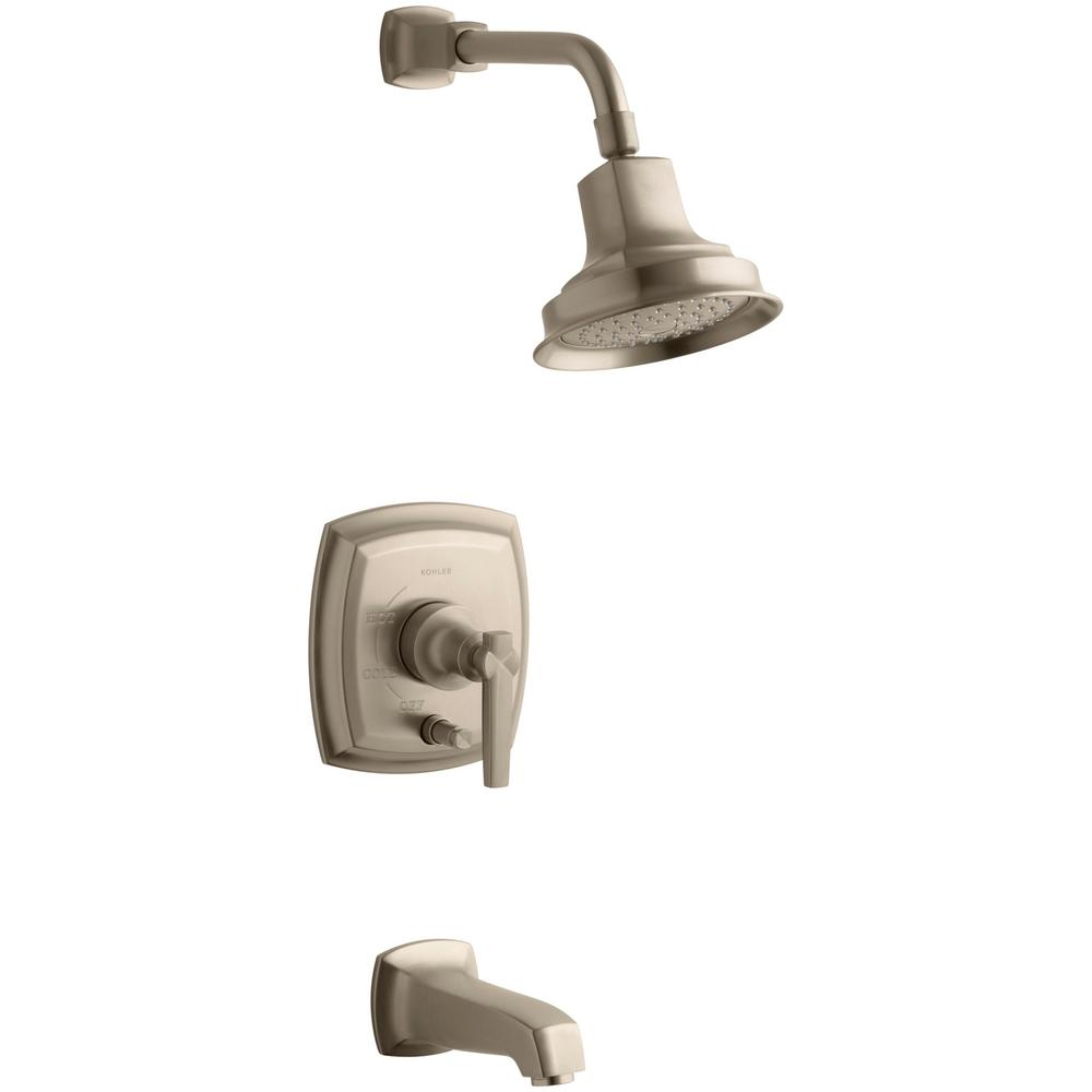 Margaux 1-Handle Rite-Temp Tub and Shower Faucet Trim Kit in Vibrant