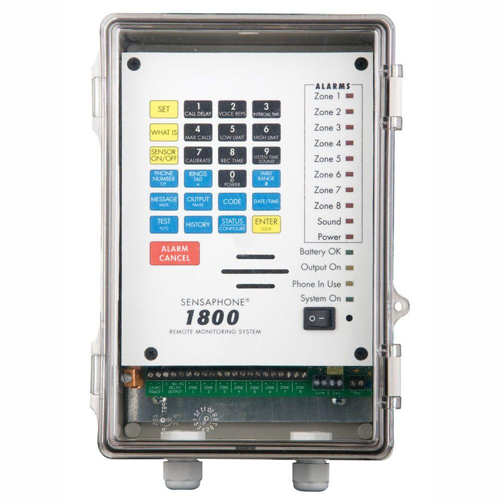 Sensaphone 1800 Series 8 Channel Remote Monitoring System with Clear Door
