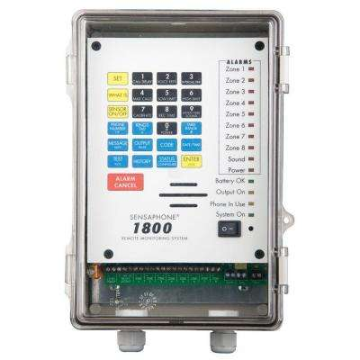 1800 Series 8 Channel Remote Monitoring System with Clear Door