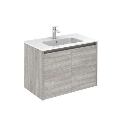 Sansa 32 in. W x 18 in. D 2/Doors Vanity in Sandy Grey with Ceramic White Basin
