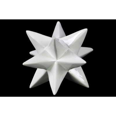 6 in. H Decorative Sculpture in White Gloss Finish