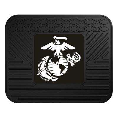 U.S. Marines Heavy-Duty 17 in. x 14 in. Vinyl Utility Car Mat