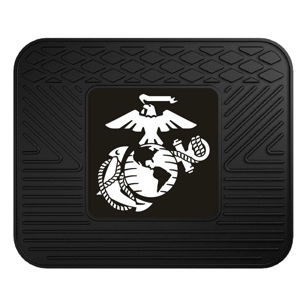 U.S. Marines Heavy-Duty 17 in. x 14 in. Vinyl Utility Car Mat