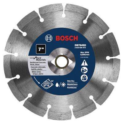 7 in. Diamond Hard Premium Plus Circular Saw Blade for Pavers, Soft Brick, and Concrete/Block