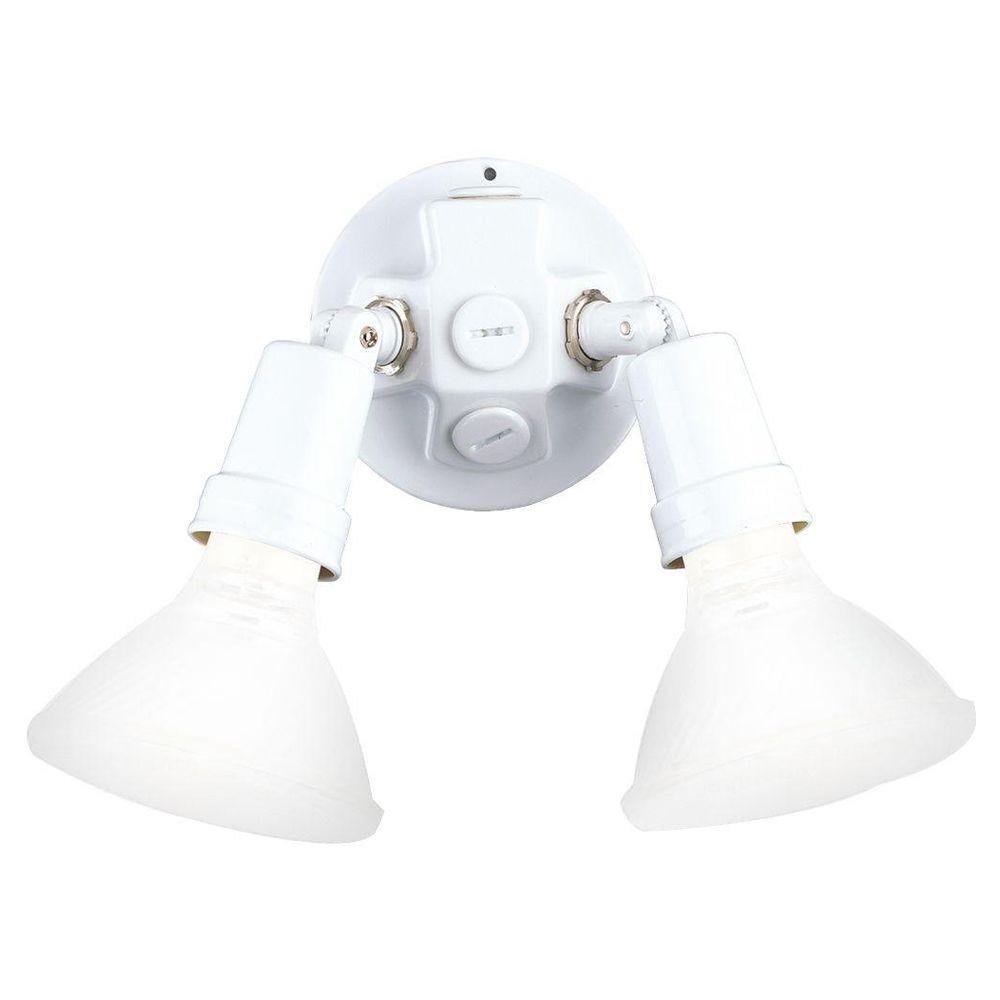 2-Light Outdoor White Flood Light