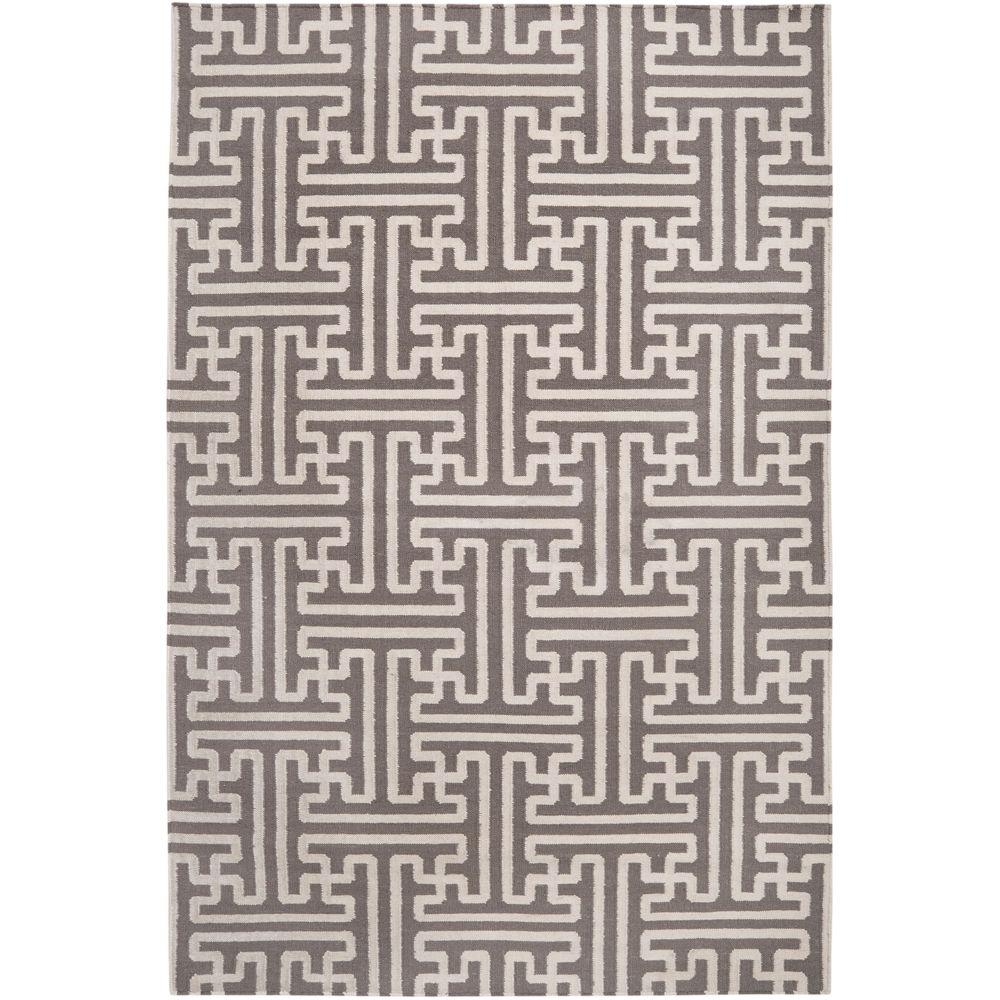 Surya Smithsonian Gray 8 ft. x 11 ft. Flatweave Area Rug