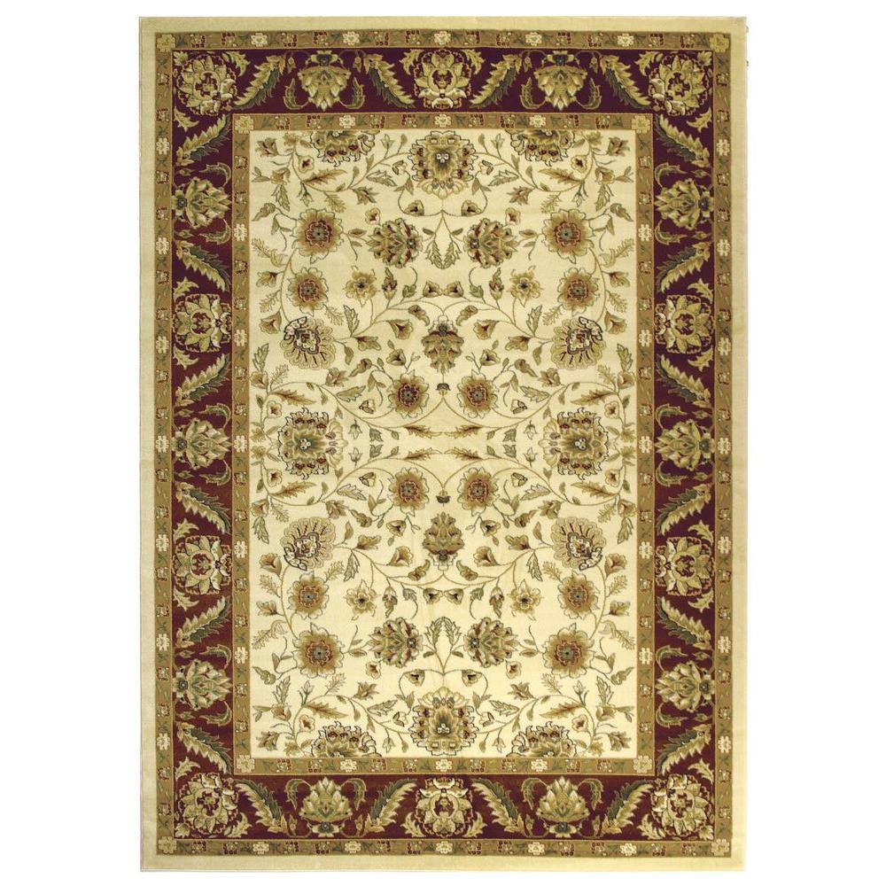 Safavieh Lyndhurst Ivory Red 9 Ft X 12 Area Rug