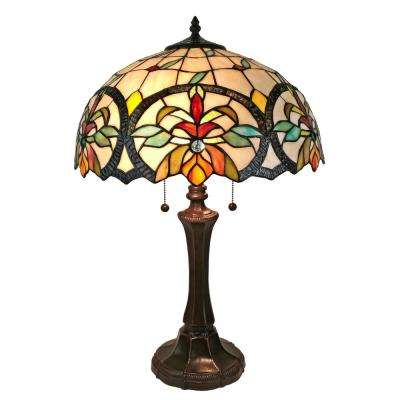 Tiffany Style 18 in. Tall Multi-Color Mission Table Lamp