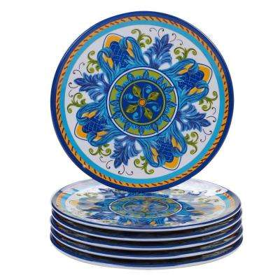 Lucca Multicolor Salad Plate (Set of 6)